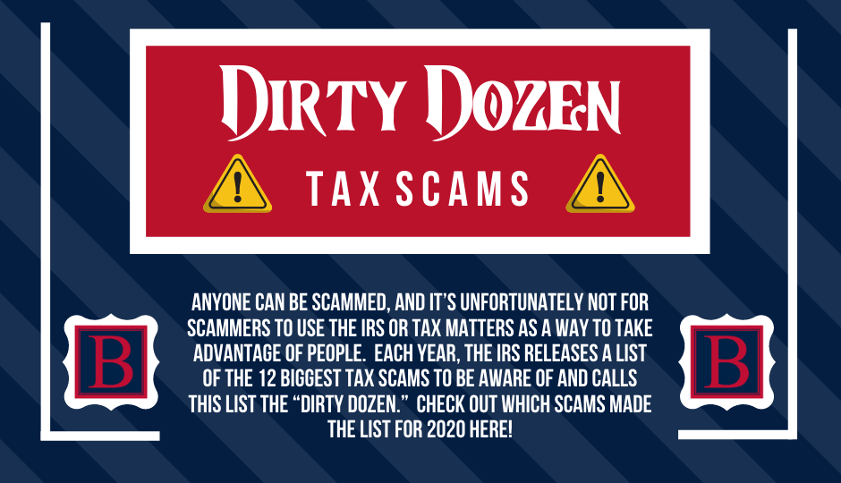 "The ""Dirty Dozen"" Tax Scams"