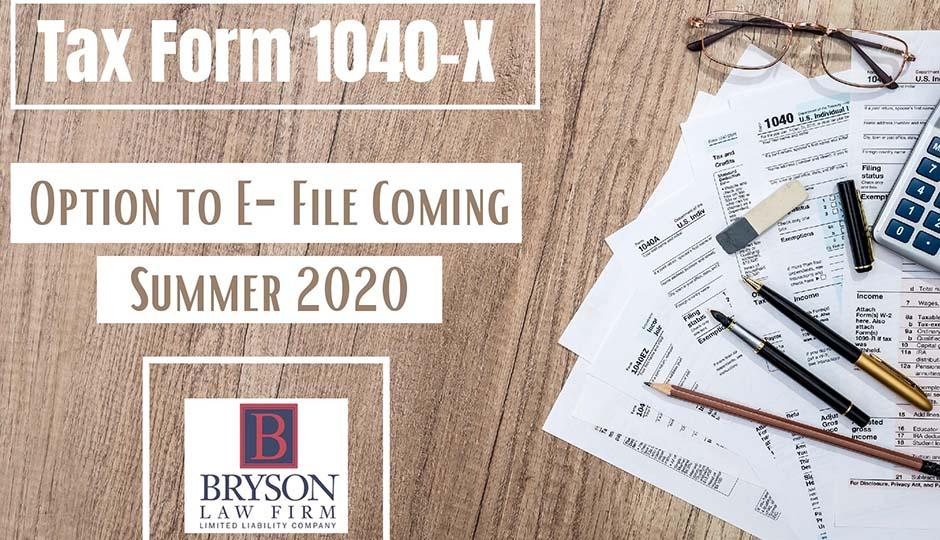 Tax Form 1040-X: Option to E-File
