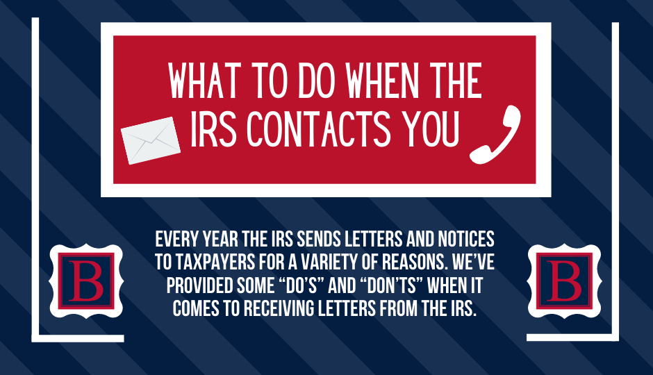 What Should You Do If You Get a Letter or Notice from the IRS?